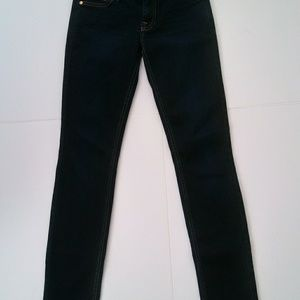 7 For all mankind low rise skinny jeans size 25